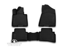 Комплект ковриков в салон автомобиля Novline-Autofamily Kia Sportage 2006-2010. Цвет: черный - фото 4