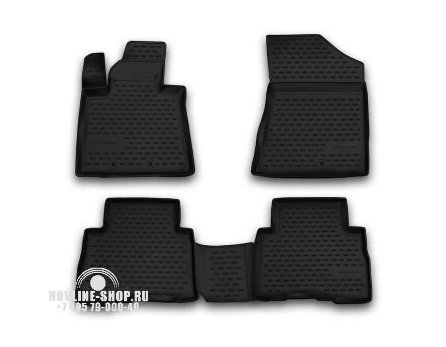 Комплект ковриков в салон автомобиля Novline-Autofamily KIA Sorento 2012-2015 - фото 7