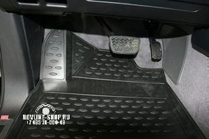 Коврики 3D в салон TOYOTA Land Cruiser 200, 11/2007-2012 4 шт. (полиуретан)